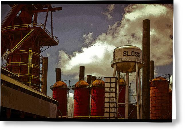 Sloss Furnace Poster Greeting Card