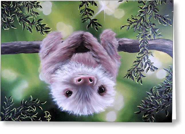 Sloth'n 'around Greeting Card