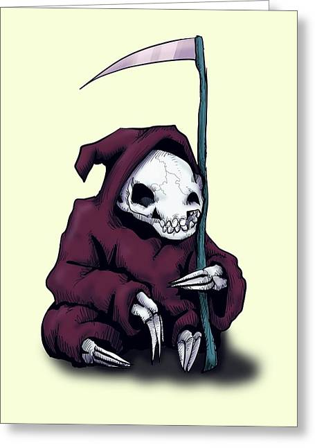 Grim reaper greeting cards fine art america sloth reaper greeting card bookmarktalkfo Image collections