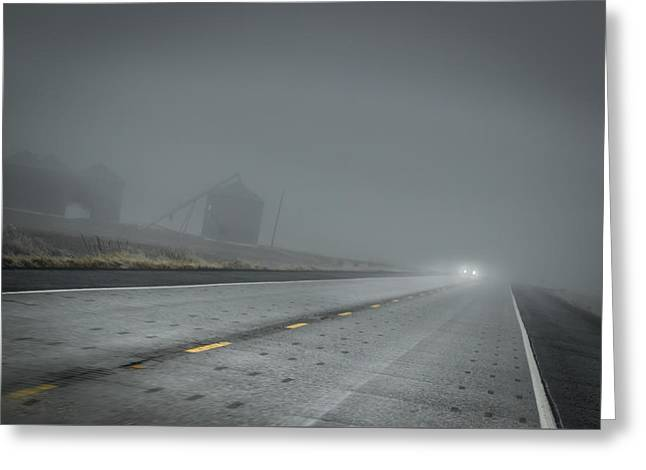 Slow Drive Home Greeting Card by Brad Stinson