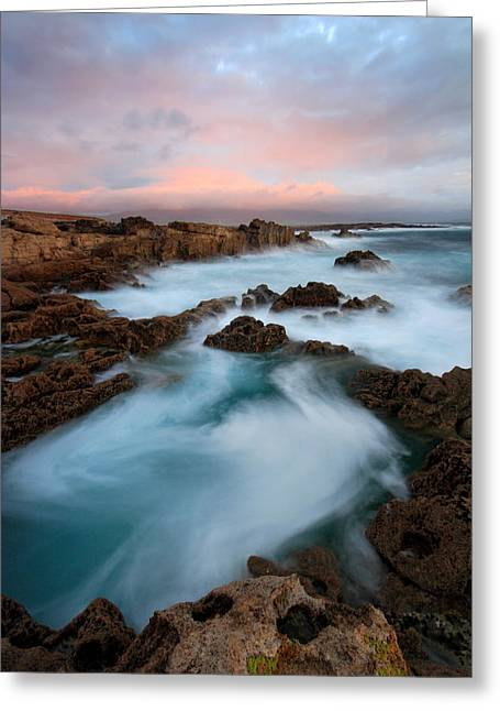 Slow Exposure Kerry Sunset Ireland Greeting Card by Pierre Leclerc Photography