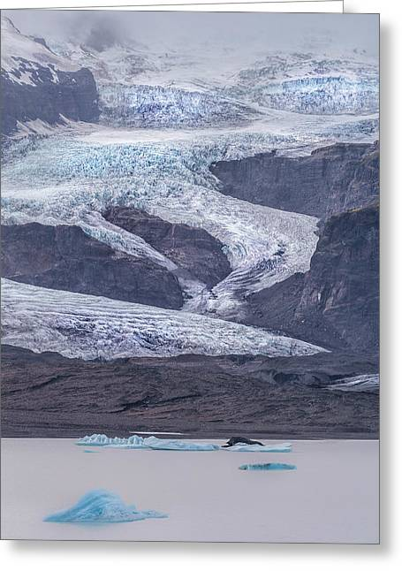 Slow Motion Glacier Greeting Card