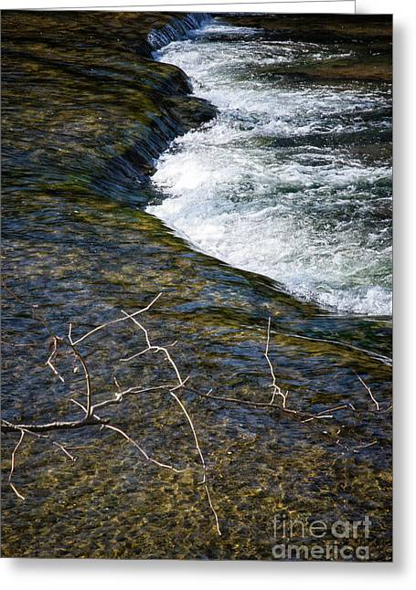 Slow Water Movement Greeting Card by Stanton Tubb