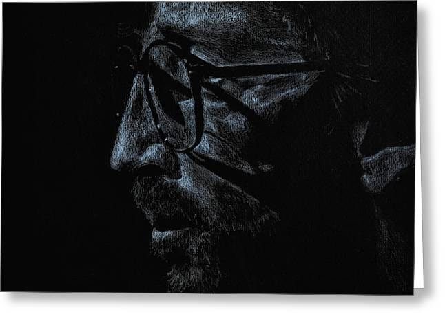Slowhand Greeting Card by Matthew Fredricey