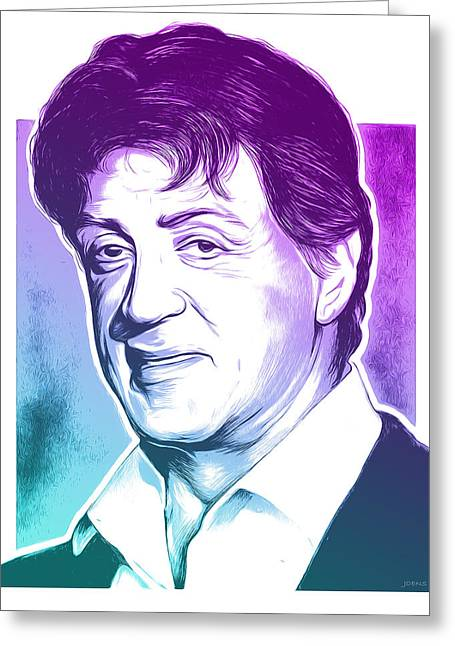 Sly Stallone Greeting Card by Greg Joens