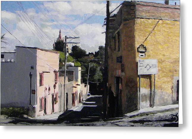 Sma Calle Aldama Greeting Card by Thomas Tribby