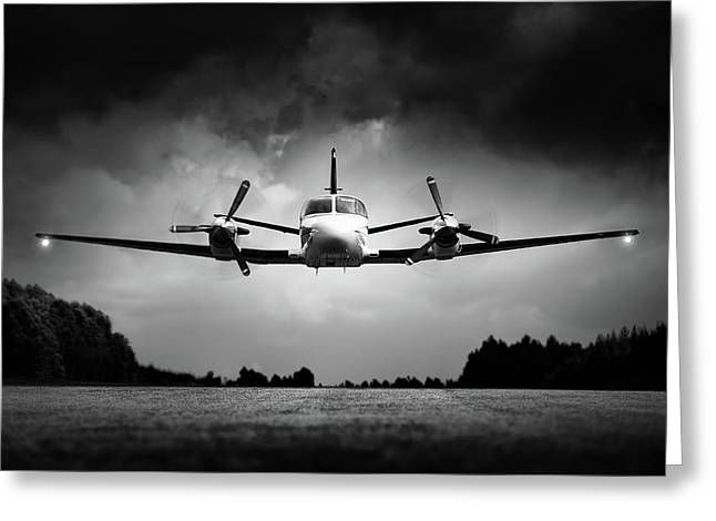 Small Airplane Low Flyby Greeting Card