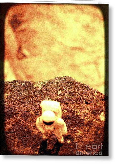Small Astronaut  Greeting Card by A Cappellari