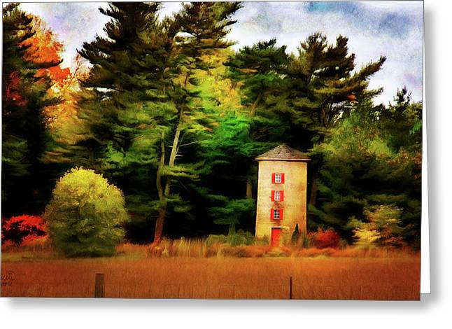 Small Autumn Silo Greeting Card