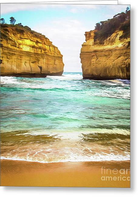 Greeting Card featuring the photograph Small Bay by Perry Webster