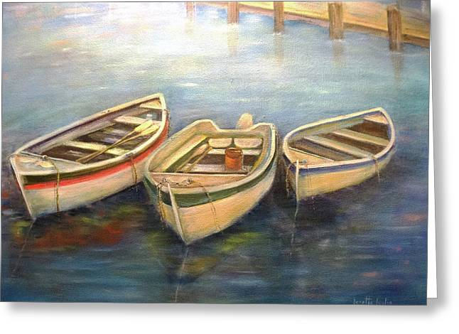 Small Boats Greeting Card