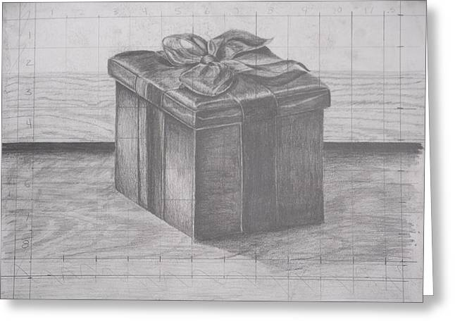 Wood Grain Drawings Greeting Cards - Small Box Greeting Card by Kelsey Fahey