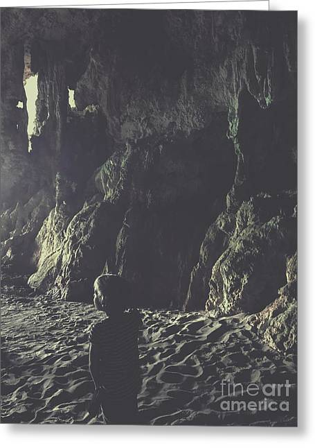Small Boy In Cave Greeting Card by Patricia Hofmeester