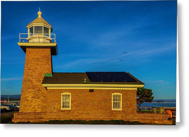 Small Brick Lighthouse Greeting Card
