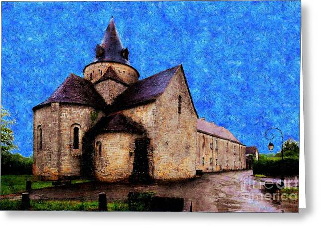 Small Church 1 Greeting Card by Jean Bernard Roussilhe