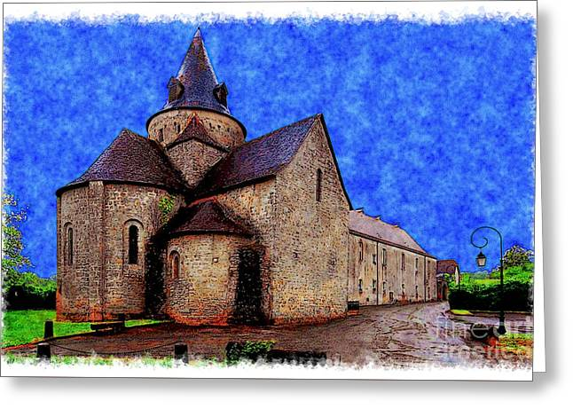 Small Church 2 Greeting Card by Jean Bernard Roussilhe