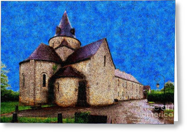 Small Church 4 Greeting Card by Jean Bernard Roussilhe