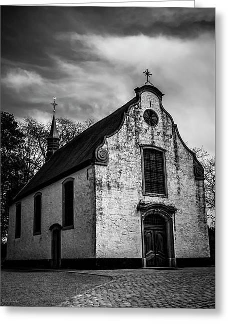 Small Church Greeting Card by Wim Lanclus