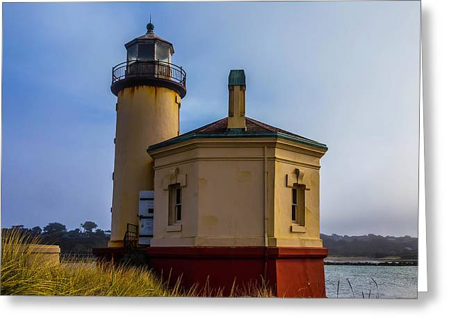 Small Coquile River Lighthouse Greeting Card by Garry Gay