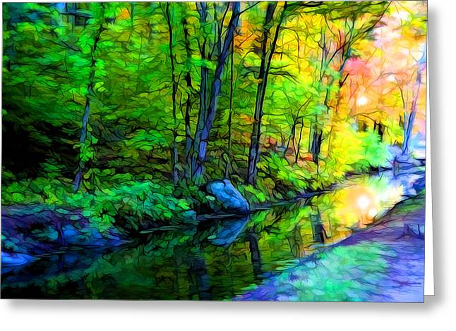 Small Creek Greeting Card by Lilia D