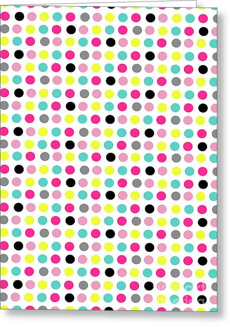 Small Dots Greeting Card by Louisa Knight
