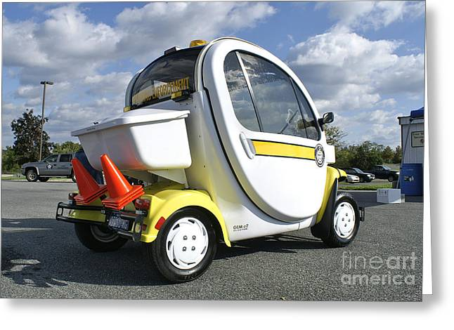 Small Electric Car For Traffic Greeting Card by Blair Seitz