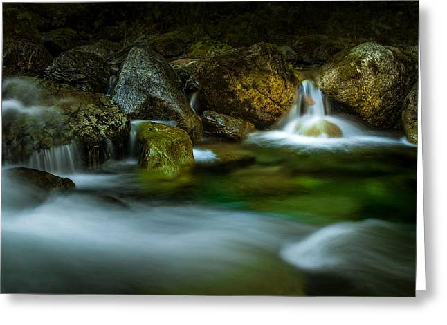 Small Falls In A Big Rush Greeting Card