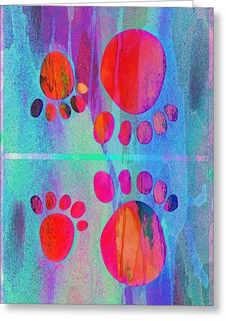 Small Feet And Big Feet 11 Greeting Card