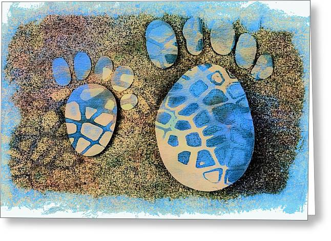 Small Feet And Big Feet 13 Greeting Card