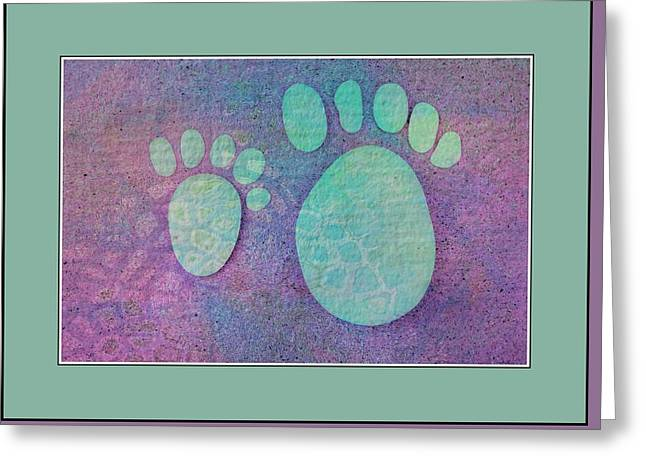 Small Feet And Big Feet 2 Greeting Card