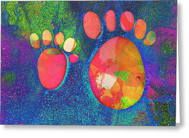 Small Feet And Big Feet 24 Greeting Card by Jean Francois Gil