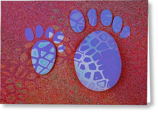 Small Feet And Big Feet 27 Greeting Card by Jean Francois Gil
