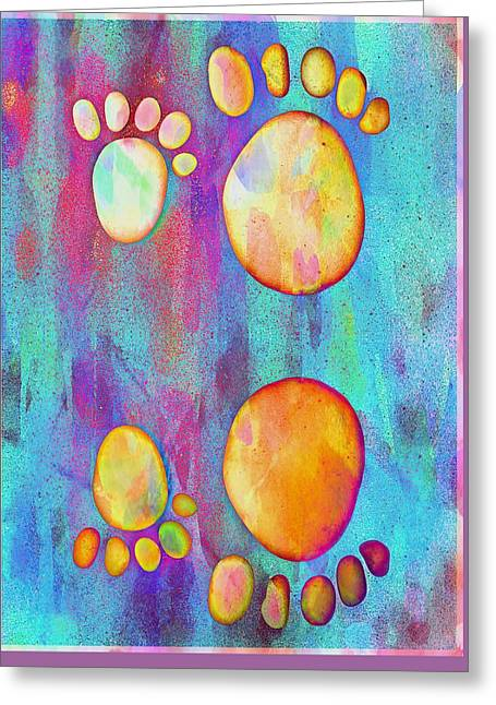 Small Feet And Big Feet 9 Greeting Card