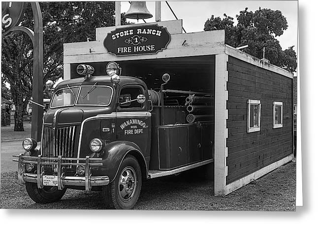 Small Fire House Greeting Card
