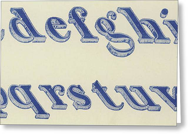 Small Italian Font Greeting Card
