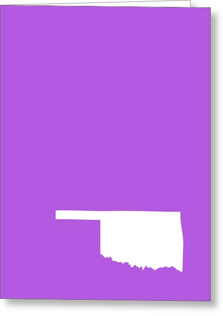 Small Oklahoma In White Greeting Card by Custom Home Fashions