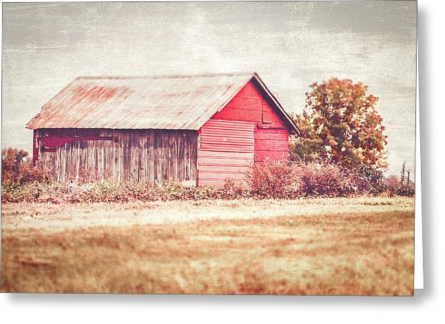 Small Red Barn Greeting Card by Andrea Kappler