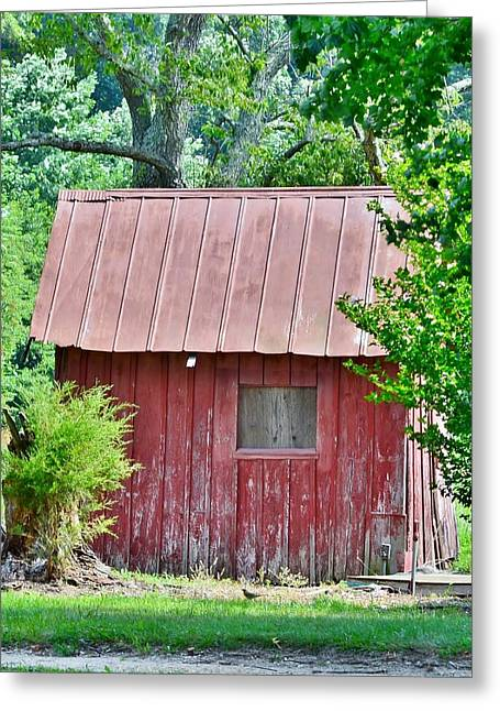 Small Red Barn - Lewes Delaware Greeting Card
