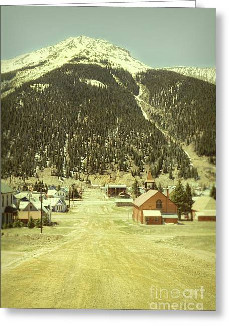 Greeting Card featuring the photograph Small Rocky Mountain Town by Jill Battaglia