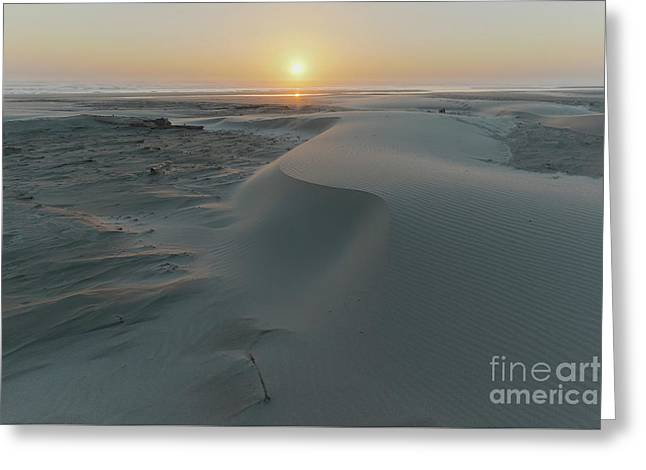 Small Sand Dunes On The Beach Greeting Card