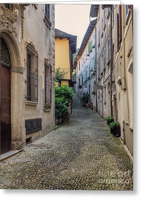 Small Streets In Orta San Giulio, Italy Greeting Card
