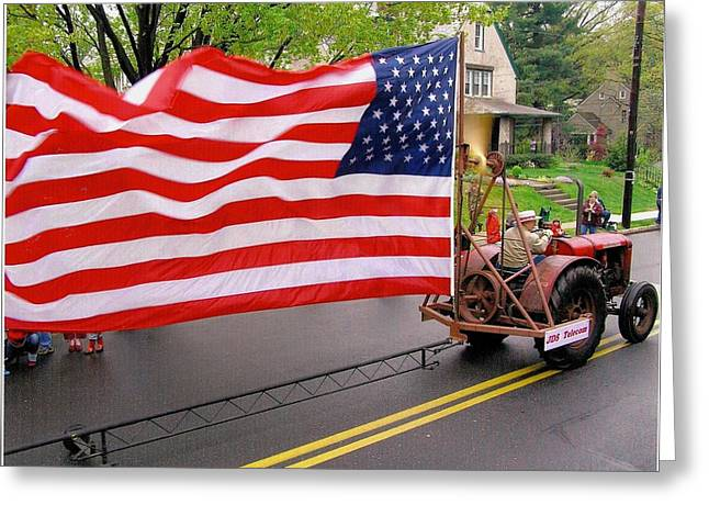 Small Town America Greeting Card by Jeanette Oberholtzer