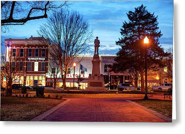 Small Town America Skyline - Downtown Bentonville Square  Greeting Card