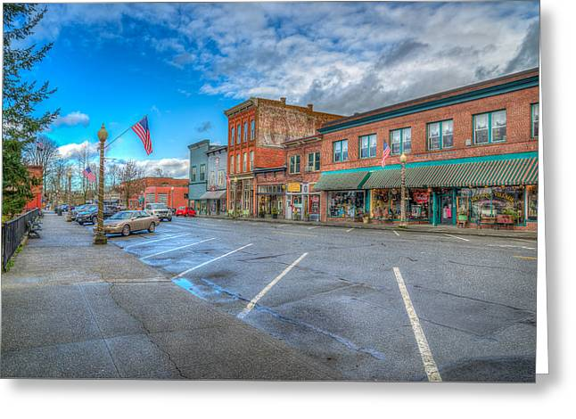 Small Town America Greeting Card by Spencer McDonald