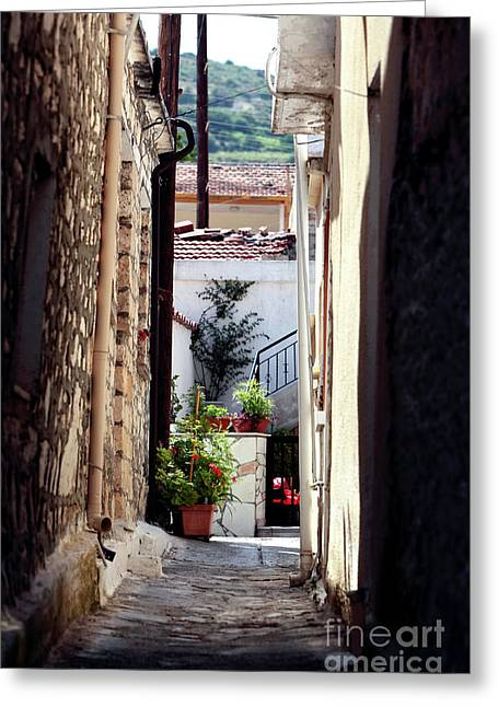 Small Town Cyprus Greeting Card