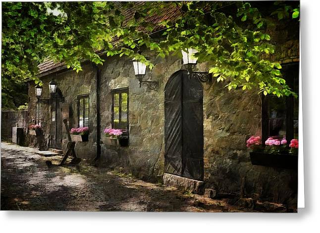 Small Town Idyll Greeting Card
