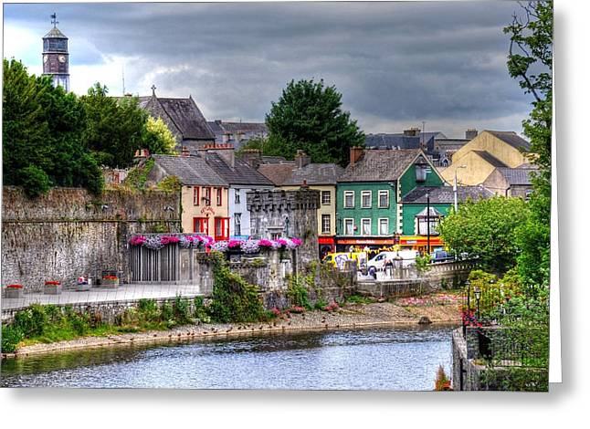 Barry R Jones Jr Digital Art Greeting Cards - Small Town Ireland Greeting Card by Barry R Jones Jr