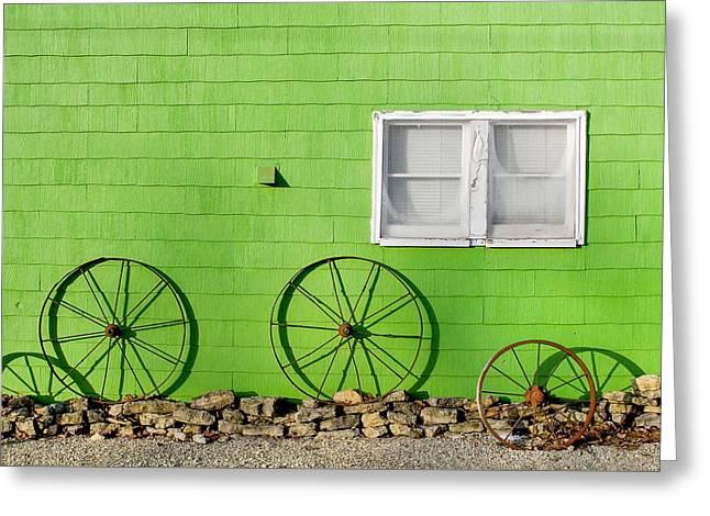 Small Town Shadows Greeting Card by Todd Klassy