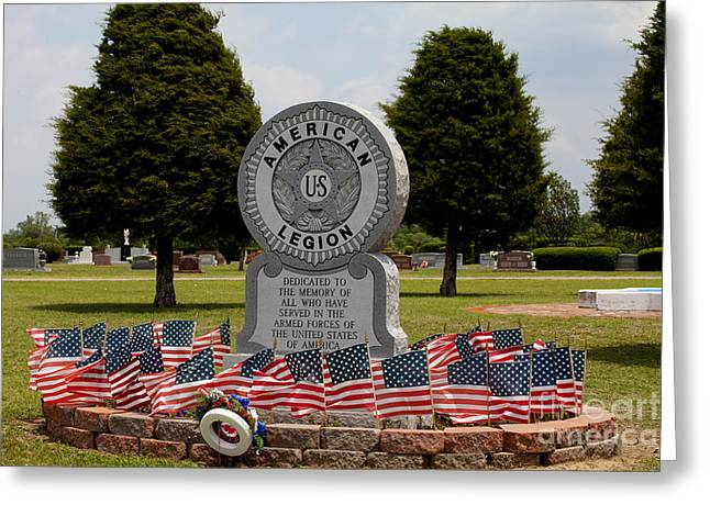 Veteran Photography Greeting Cards - Small Town Tribute Greeting Card by Toni Hopper
