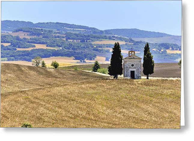 Small Tuscan Chapel Greeting Card